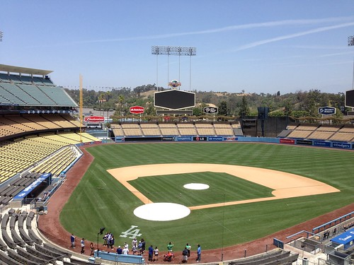 Empty Dodger Stadium