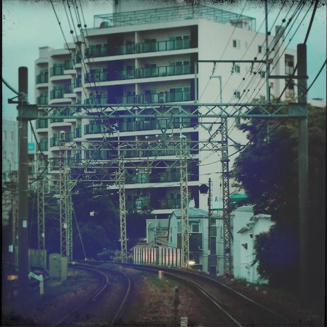 Curving railway