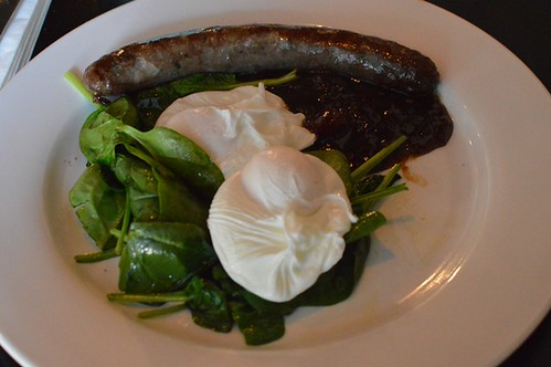 Gather on the Green: Poached eggs, gourmet sausage & spicy chutney