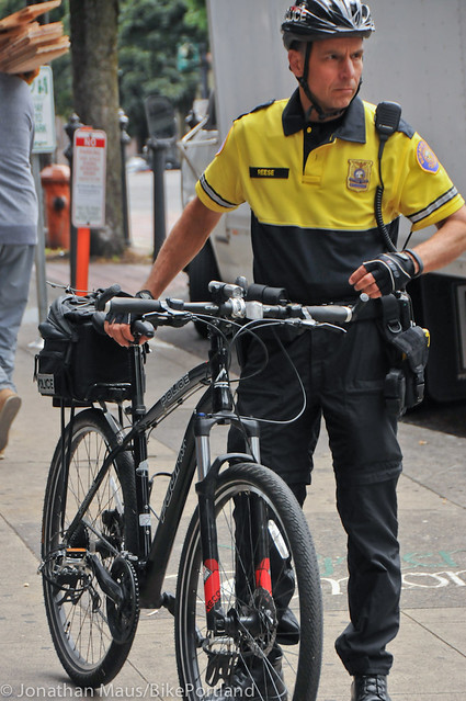 PPB Police Chief Mike Reese on bike patrol-3