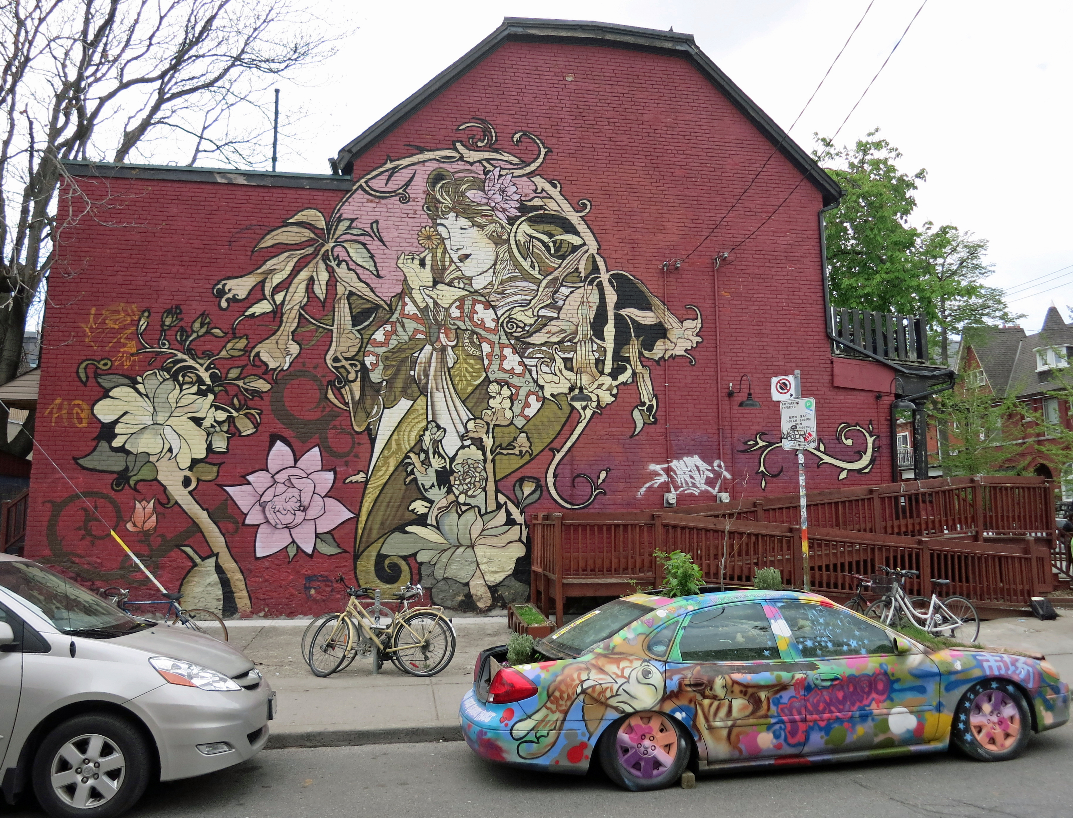 Kensington art nouveau mural flickr photo sharing for Art nouveau mural