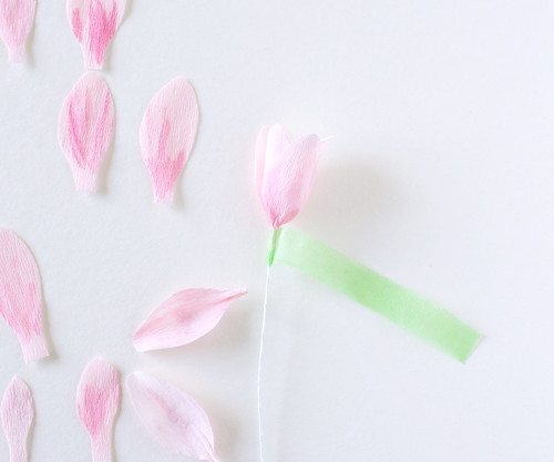 DIY Paper Magnolia Blossoms