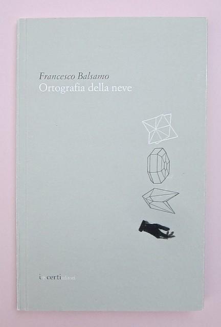 Ortografia della neve, di Francesco Balsamo. incertieditori 2010. Progetto grafico di officina delle immagini. Copertina (part.), 1