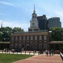 Even though entry is free, I wasn't going to stand in a long line to do the tour. It's too hot and I can appreciate the founding of our country from a nice bench in the shade. ;)