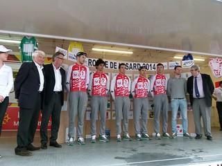 Vainqueurs classement par équipe de la Ronde de l'Isard 2014 : Vendée U