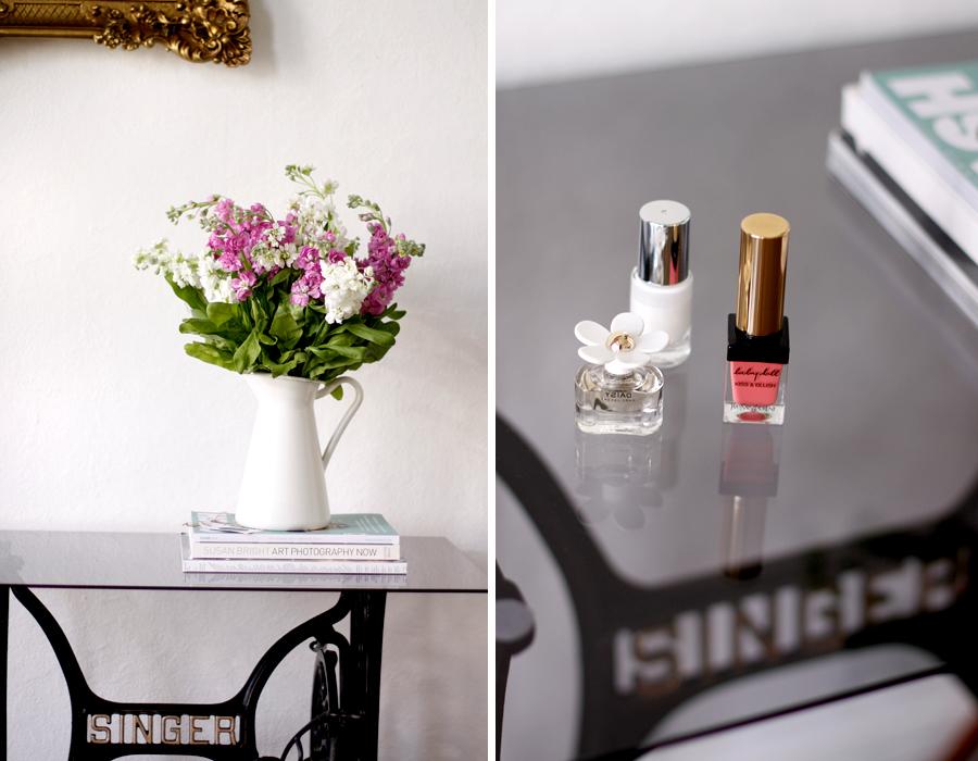 June Essentials blogger Bloomy Days Yves Saint Laurent Singer DIY table Ricarda Schernus 1