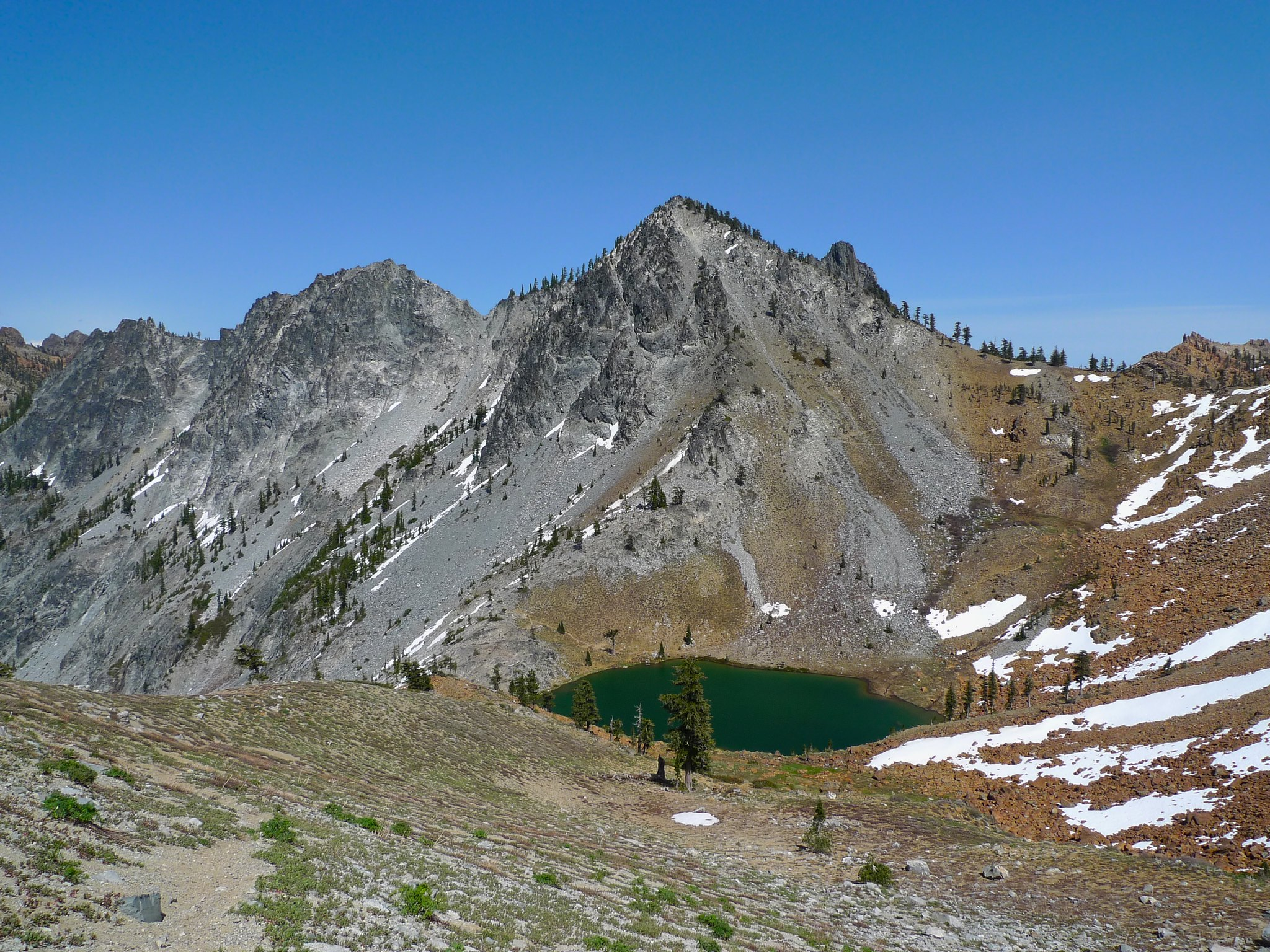 Looking back at Deer Lake and Deer Pass.