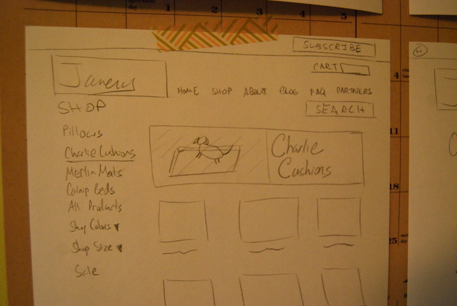 Designing the Janery Website Layout