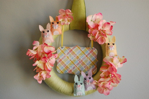 Spring Bunny Wreath Original_12