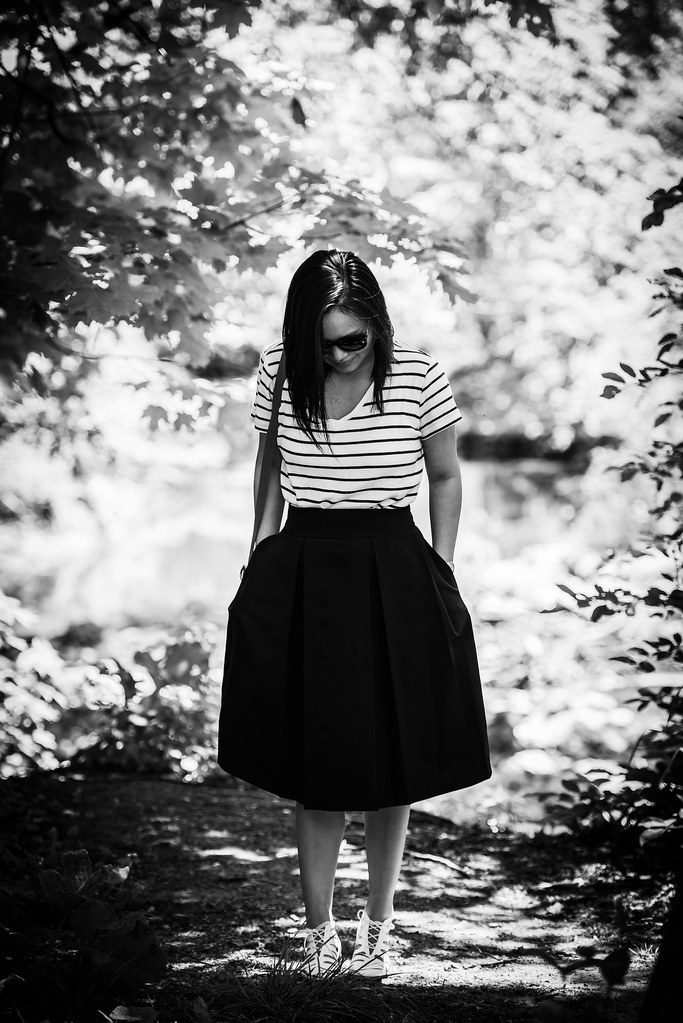 stripes and midi skirt 06