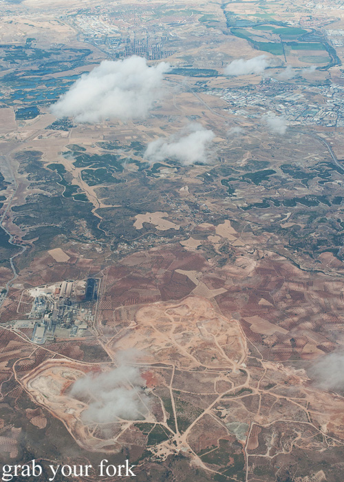 Outskirts of Madrid from the air