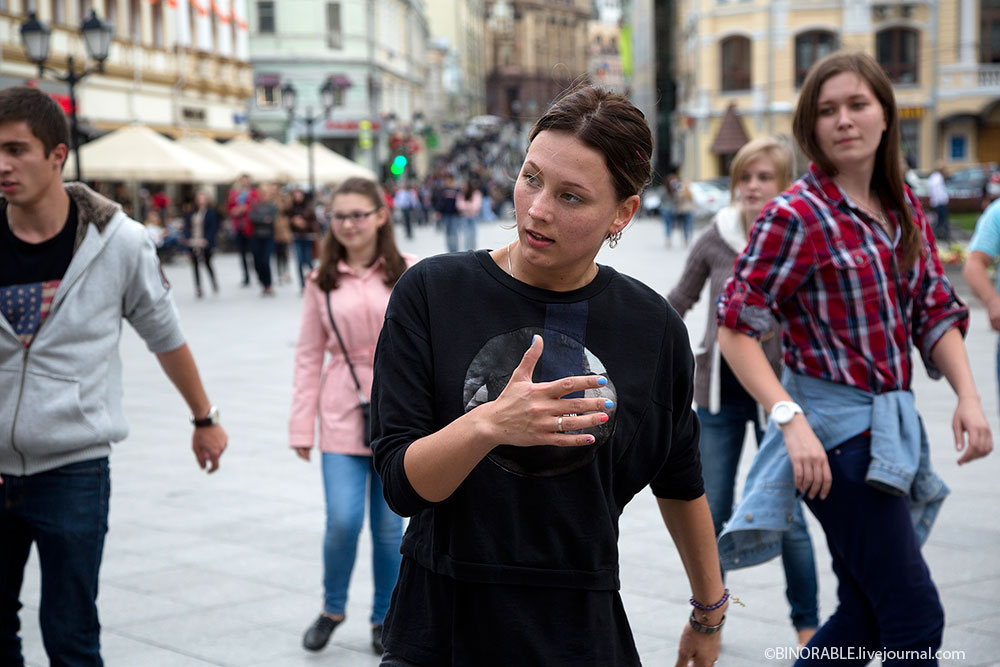 Dance masterclass in center of Moscow, Russia
