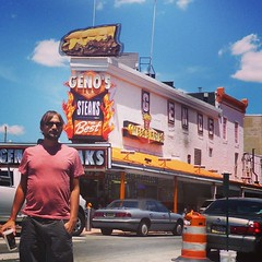 Geno's Steaks... Classic. Love the chaos of South Philly.