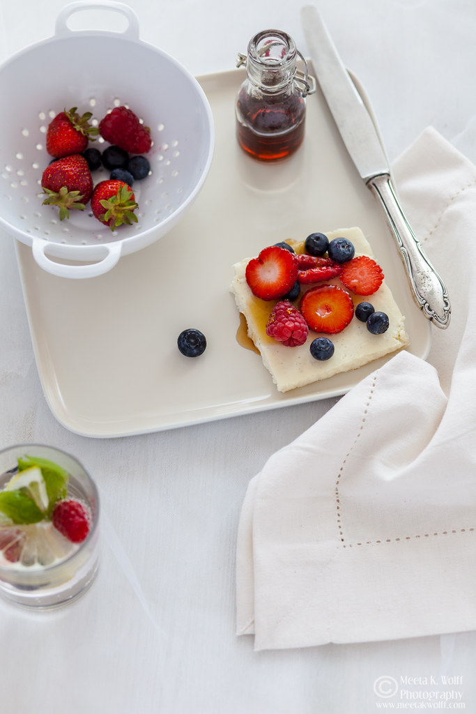 Ricotta Lemon Slice with Berries (0046)