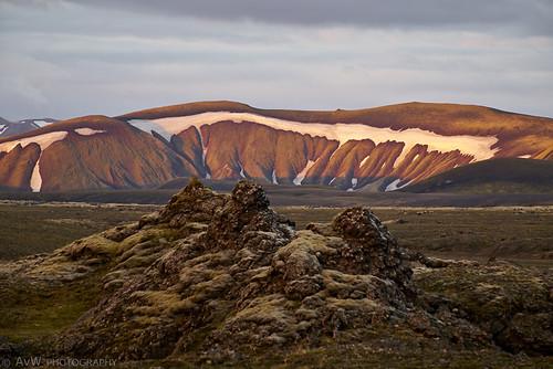 sunset landscape iceland natuur landschap isl landmannalaugar suðurland ijsland fjallabak