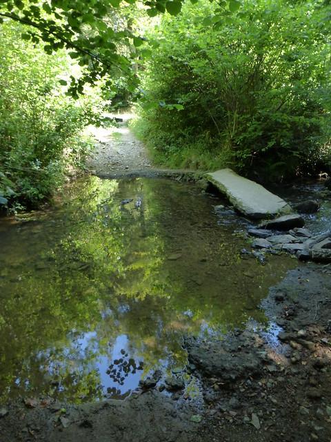 042 Gué à pierres plates sur la rivière de Gloire, Saussemesnil