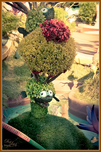 Image of a topiary growing at Universal Studios-Orlando