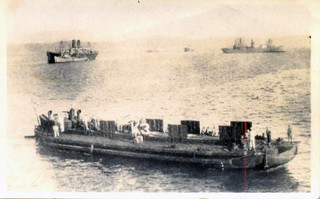 Barges in Anzac Cove