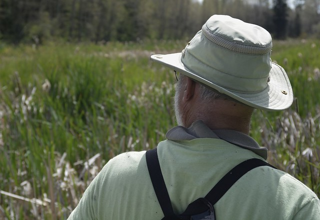 Clive overlooking the Hudson's Bay Wetland