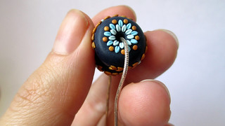 Polymer clay embroidery beads