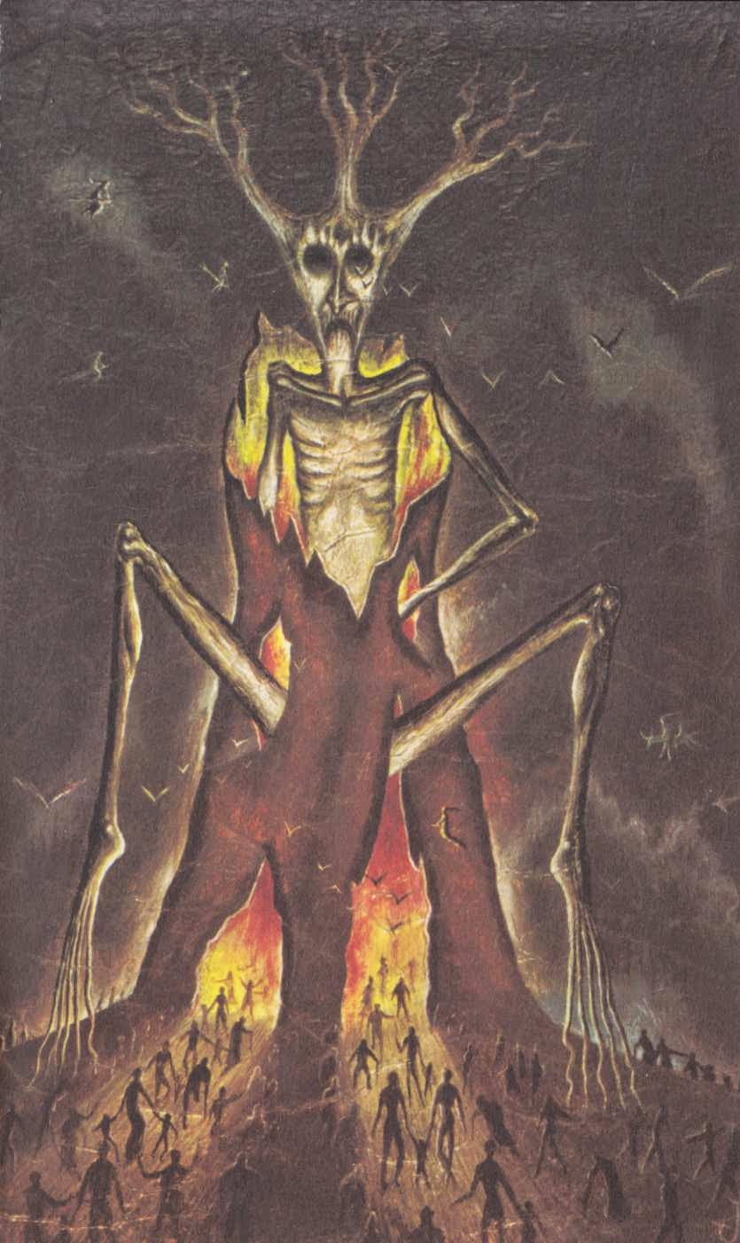 "Jan Parker - Painting from Peter Haining's "" Witchcraft and Black Magic"" 1971 (6)"
