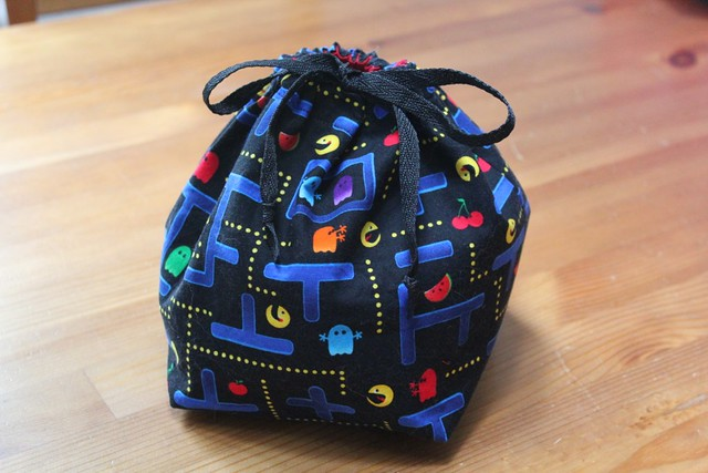 Pac Man Knitting Project Bag