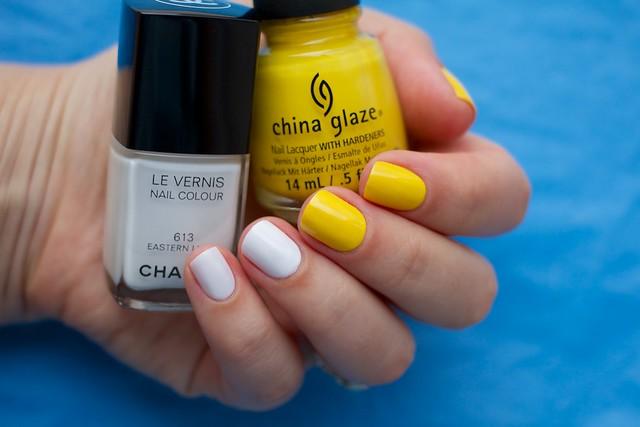 01 Chanel Eastern Light + China Glaze Happy Go Lucky
