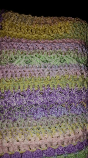 Variety stitch crib blanket completed July 30, 2014