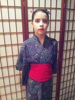 Faux shibori yukata