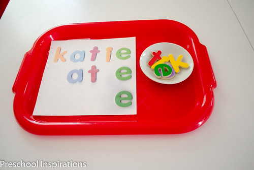 DIY Name Recognition Puzzle from Preschool Inspirations