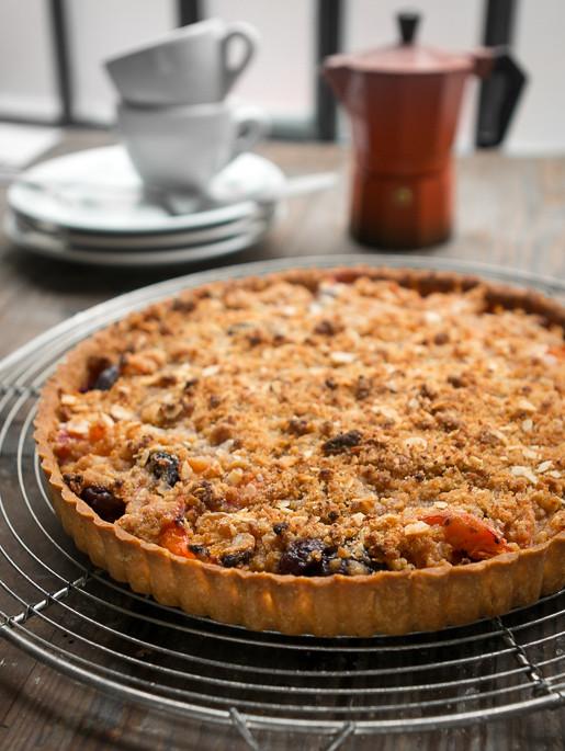 Apricot Cherry Marzipan tart_-7