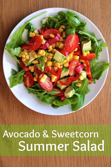 Summer salad with avocado & sweetcorn