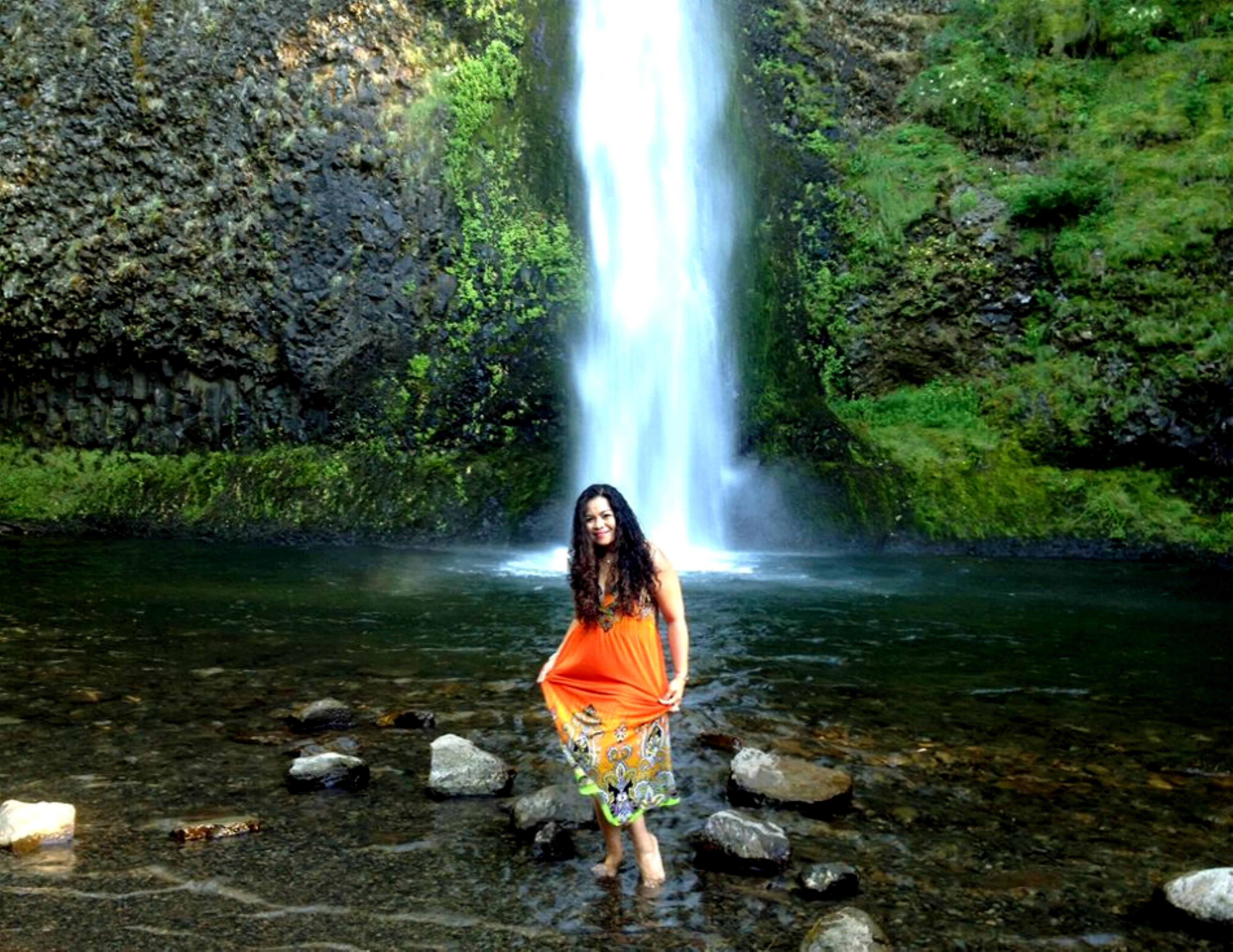Horse Tail Waterfalls along the Columbia River Gorge, Oregon