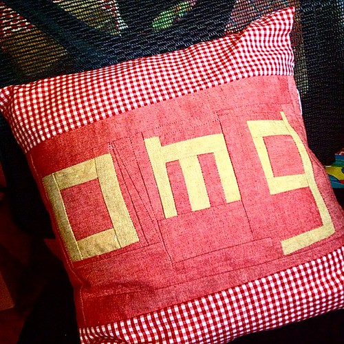 Omg I finished the pillow!!! #makingshit #sewing #red