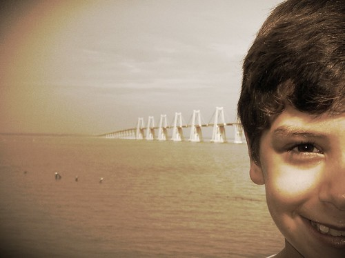 Boy and bridge