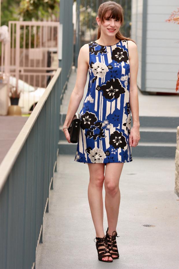 Anthropologie, Canna Shift Dress, Silk Dress