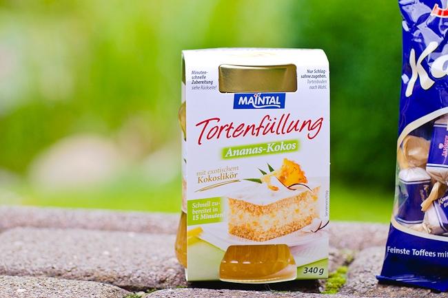 Inhalt Degustabox Juli, Maintal Tortenfüllung, Ananas-Kokos