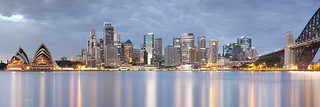 Sydney City Panorama at Dawn