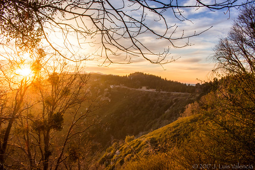 cliff mountains socal sunset