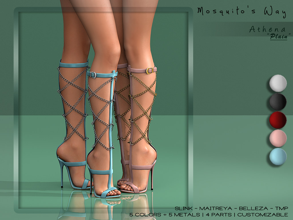 "Mosquito's Way - Athena Boots ""Plain"" Version - SecondLifeHub.com"