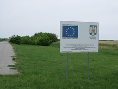 Development sign, Beba Veche, Romania