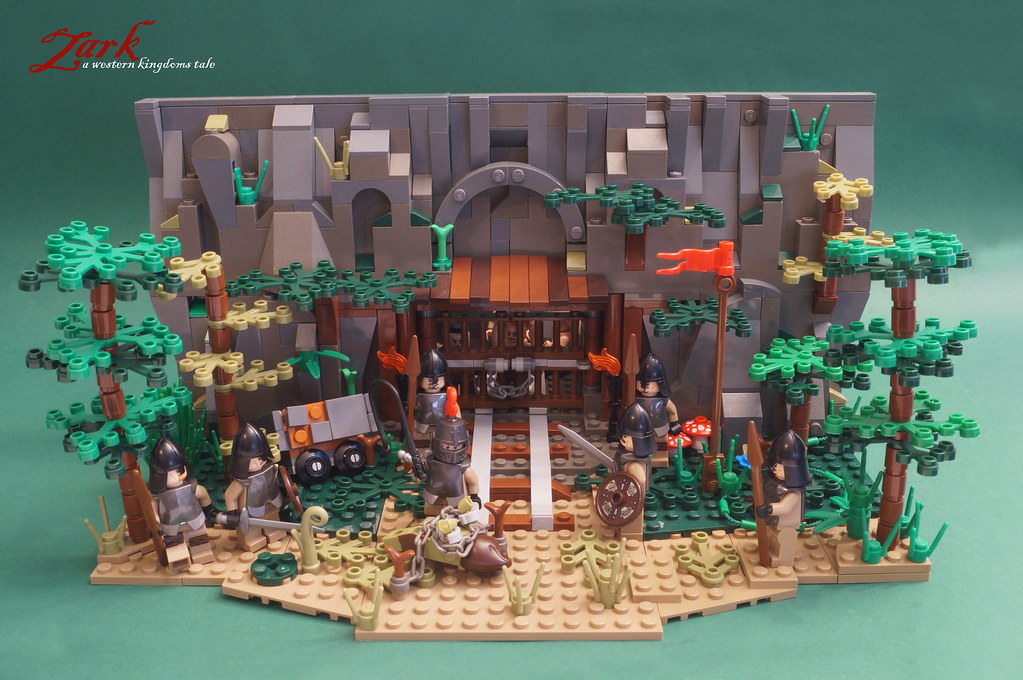 The Old Dwarf Mine (custom built Lego model)