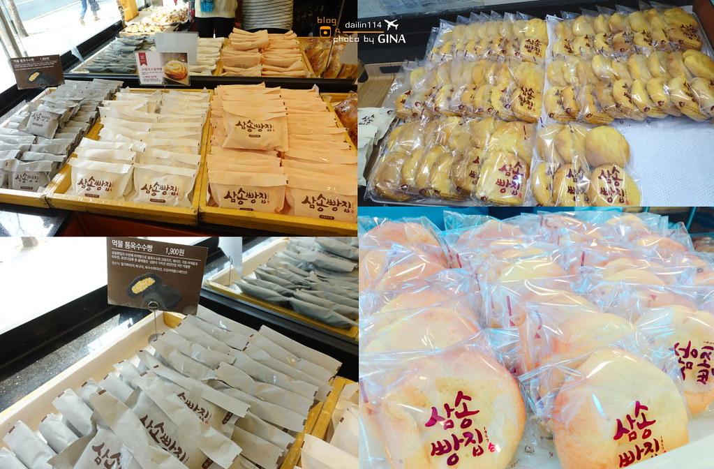 【大邱美食必吃名產】三松麵包店本店|50年傳統招牌麻藥玉米麵包(삼송빵집 본점 )附交通方式地圖 @GINA環球旅行生活|不會韓文也可以去韓國 🇹🇼