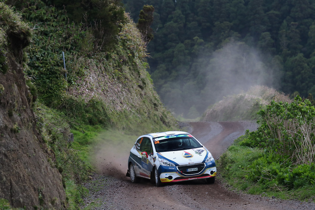 38 MARES Filip  HOULSEK JAN Peugeot 208 R2 Action during the 2017 European Rally Championship ERC Azores rally,  from March 30  to April 1, at Ponta Delgada Portugal - Photo Gregory Lenormand / DPPI