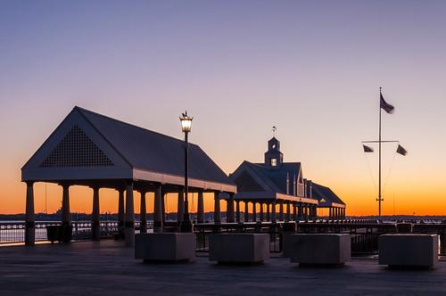 charleston chs southcarolina sc downtown waterfrontpark sunrise pier