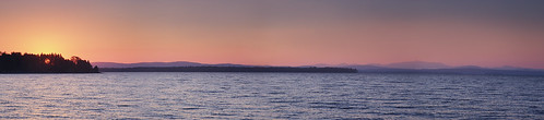 newengland usa sunrise vermont us panorama sky autumn northhero vacation landscape lake