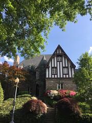 Tudor style house with azaleas, Kalorama Road NW, Washington, D.C.