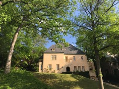 Peach colored house, Kalorama Road NW, Washington, D.C.