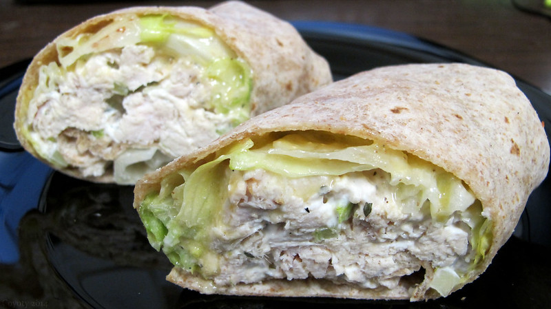 Caesar chicken salad wrap