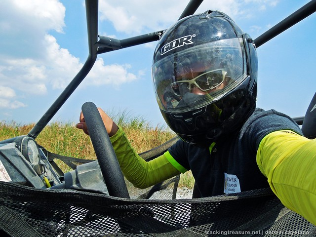 selfie at the UTV (Utility Terrain Vehicle)